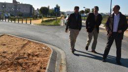 El Alcalde realiza una visita a las obras que se realizan en la Vía Verde contempladas dentro del plan PFEA 2016