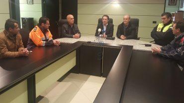 El Subdelegado del Gobierno conoce sobre el terreno los daños provocados por el temporal en Lepe