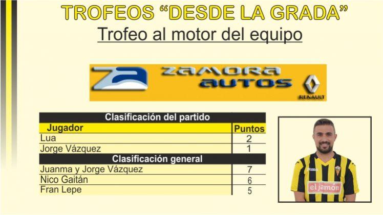 """Trofeo """"Zamora Autos"""" al motor del equipo"""