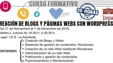 El curso de Creación de Blogs y Paginas Web clausura con éxito su segunda edición