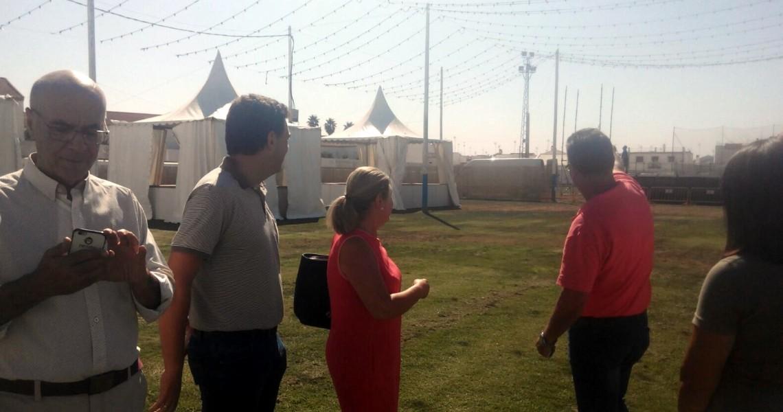 El Ayuntamiento de Lepe supervisa las instalaciones del recinto ferial