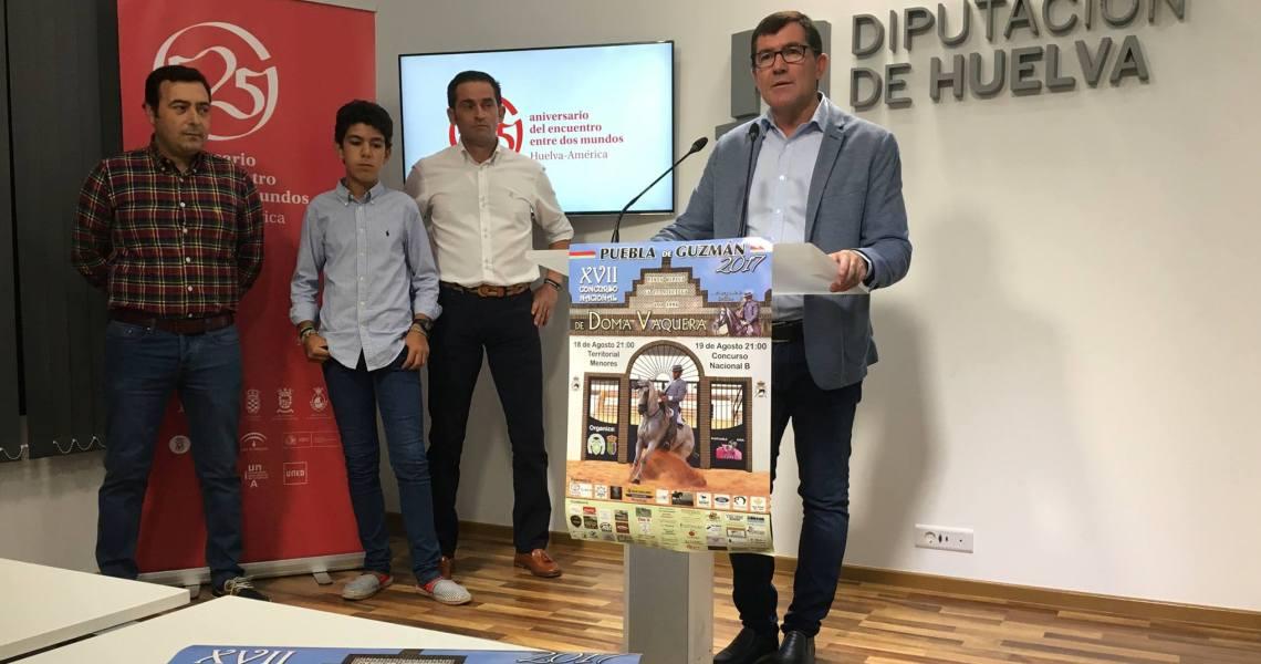 XVII Concurso Nacional de Doma Vaquera de Puebla de Guzmán, que se celebrará los días 18 y 19 de agosto