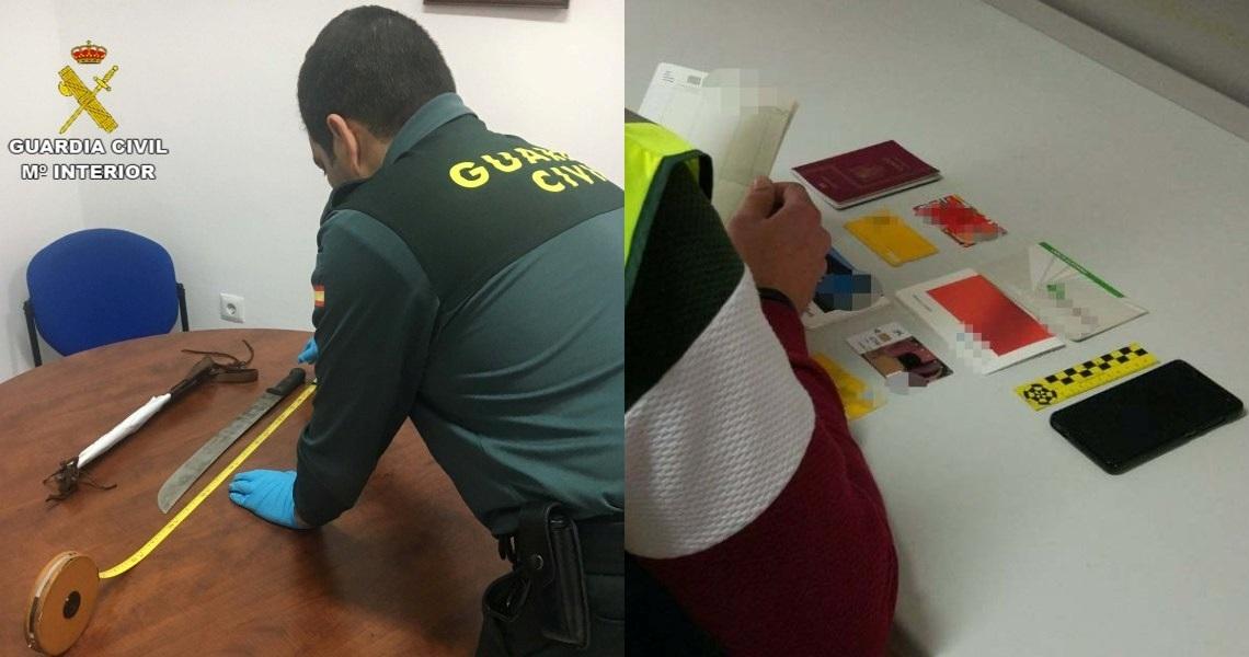 La Guardia Civil en coordinación con la Policía Local de Cartaya detiene a cuatro personas implicadas en el robo de un vehículo en la localidad de la Redondela