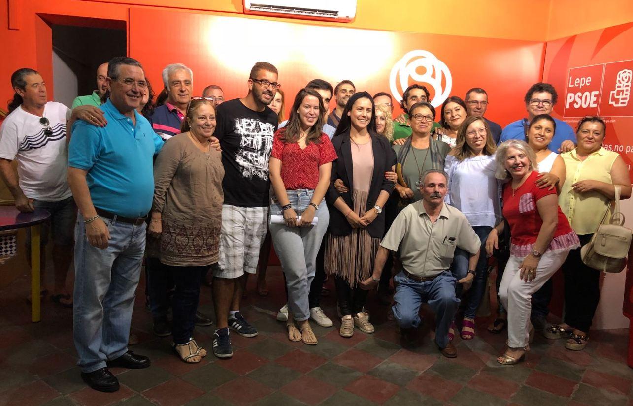La Asamblea Local del PSOE de Lepe elige por unanimidad a su nueva cantidata a la Alcaldía, la abogada y actual portavoz municipal, Bella Canales