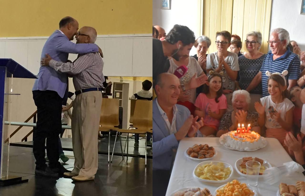 Lepe homenajea a Juan Pérez en la Semana del Mayor