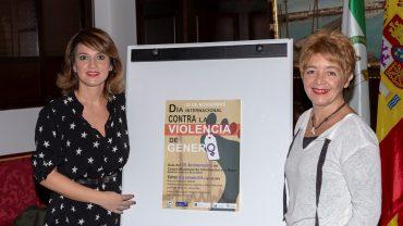 Vieira y Zarandieta junto al cartel anunciador de la Gala