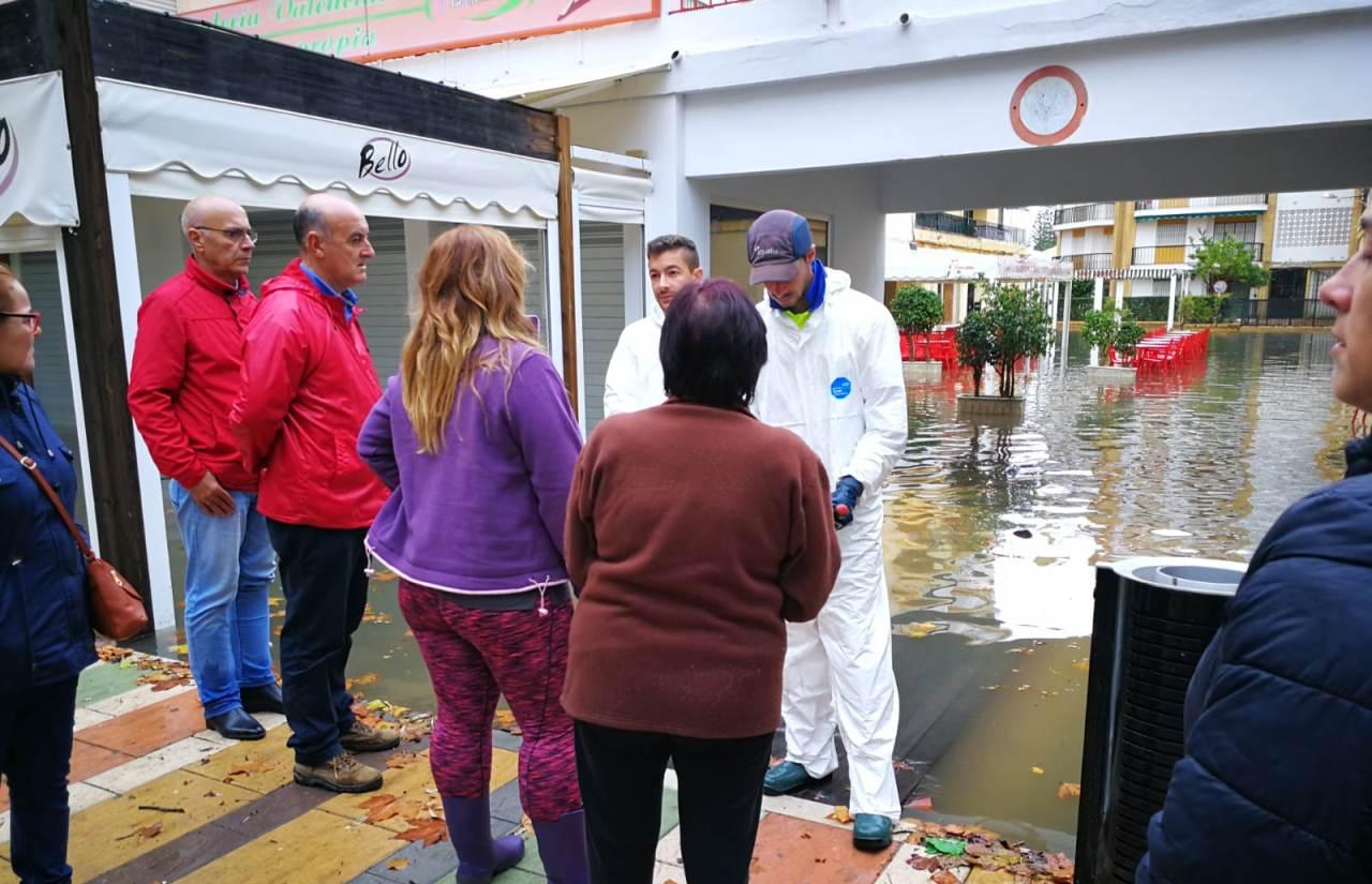 Las fuertes lluvias vuelven a causar estragos en Lepe y La Antilla