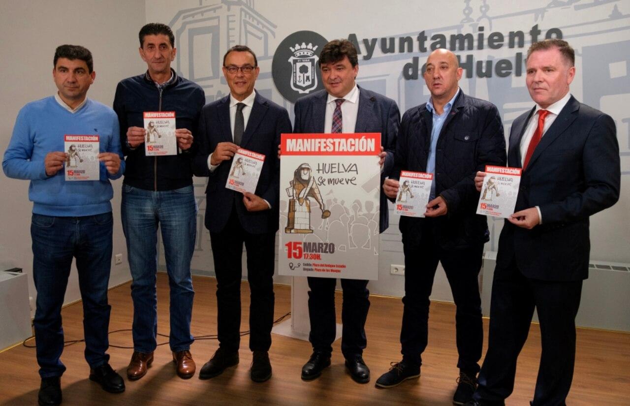 Llamada a la participación masiva el 15 de marzo en la manifestación 'Huelva se mueve' para exigir inversiones urgentes en infraestructuras
