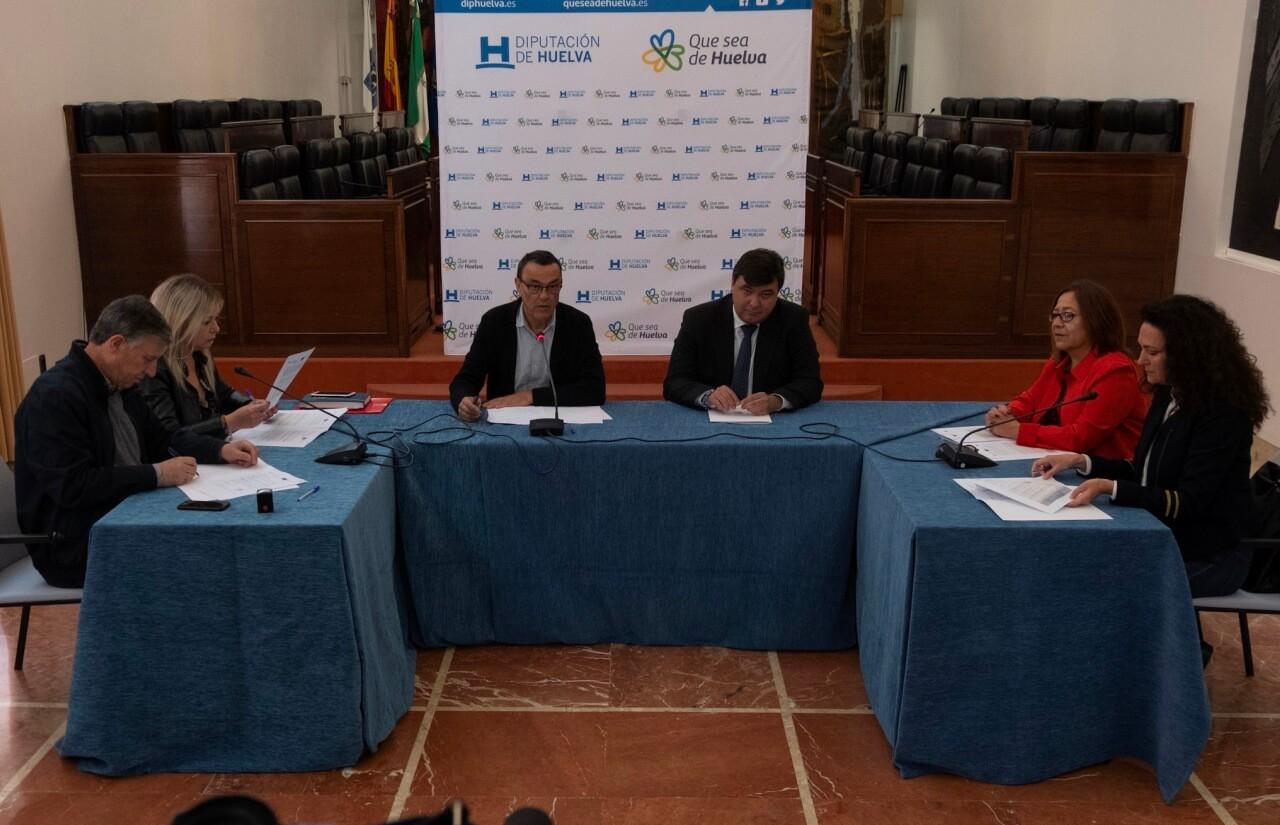 La firma de los convenios entre Diputación y Ayuntamientos acerca la puesta en marcha de la EDUSI Rías de Huelva 2020