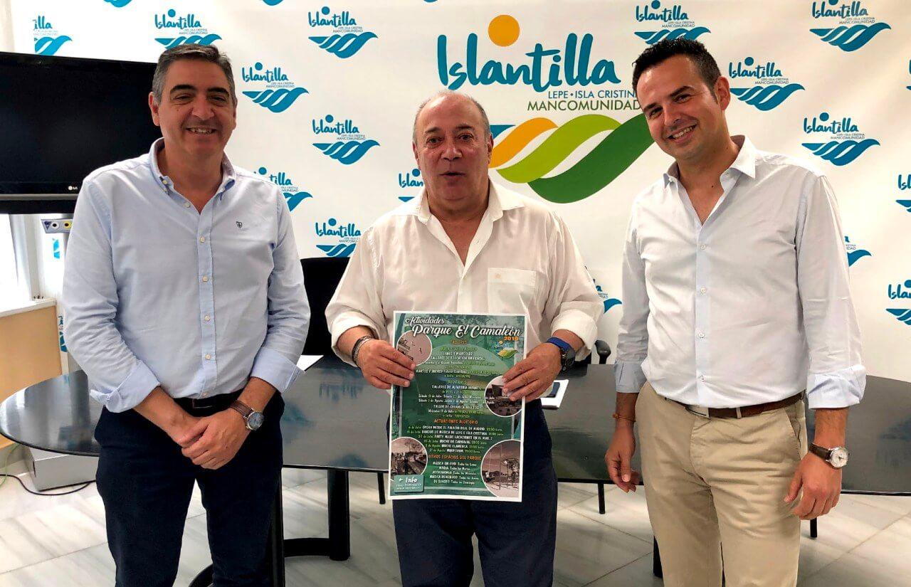 Islantilla presenta su nutrida programación de actividades culturales para este verano en el parque «El Camaleón»