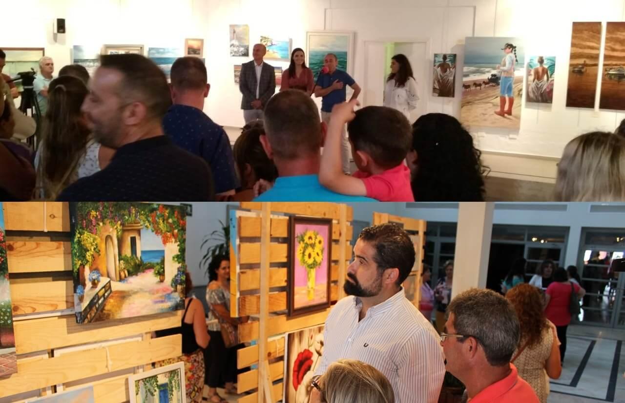 Lepe y Cartaya clausuran el curso de sus Academias de Pintura con sendas exposiciones