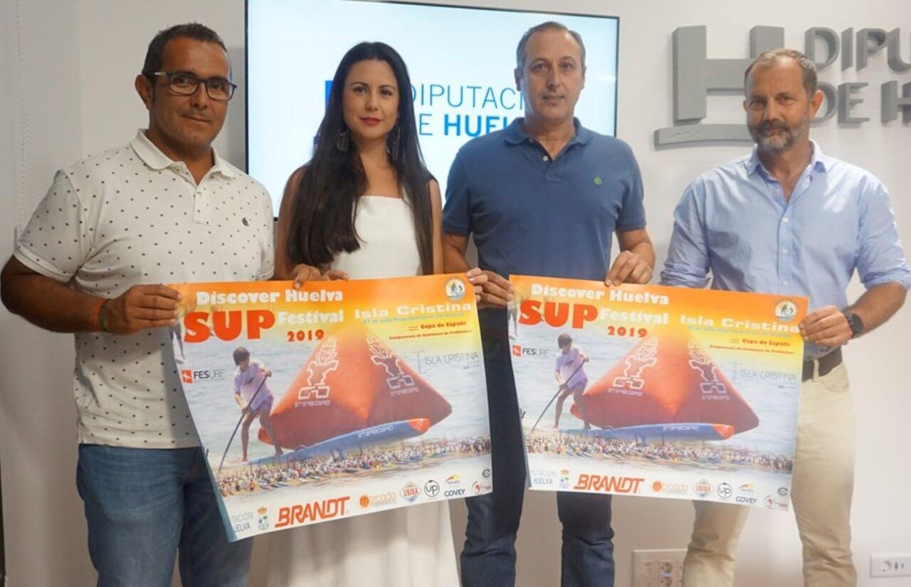 Presentado el Campeonato de Paddlesurf Discover Huelva SUP Festival de Isla Cristina