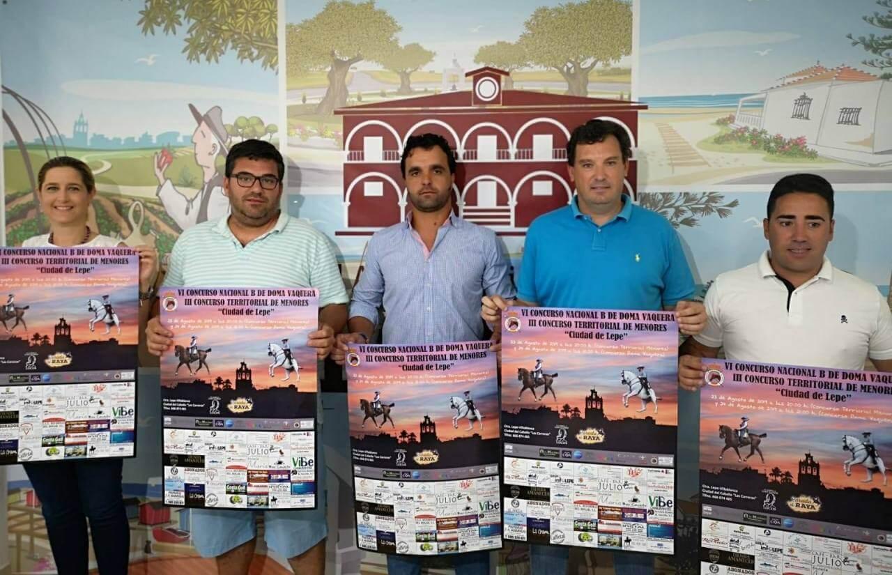 Presentados el VI Concurso Nacional B de Doma Vaquera y el III Concurso Territorial de Menores Ciudad de Lepe