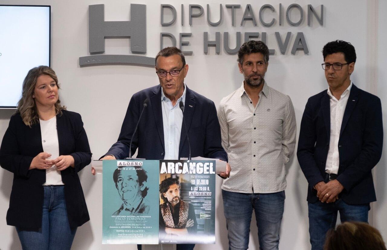 Alosno y Diputación organizan el XXIII Certamen nacional de fandangos Paco Toronjo con Arcángel como protagonista