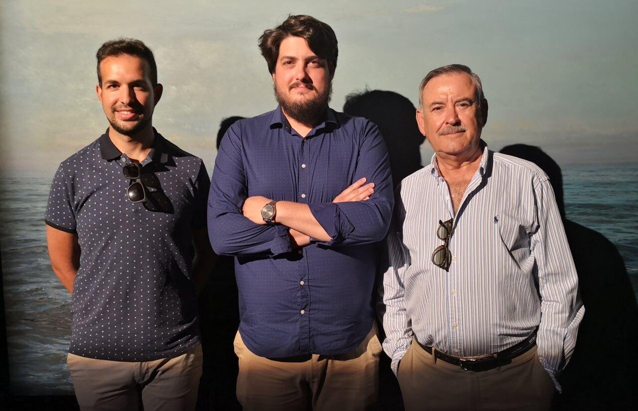El cuadro «Atlántico» del pintor Santana será donado a la Escuela Municipal de Música de Lepe