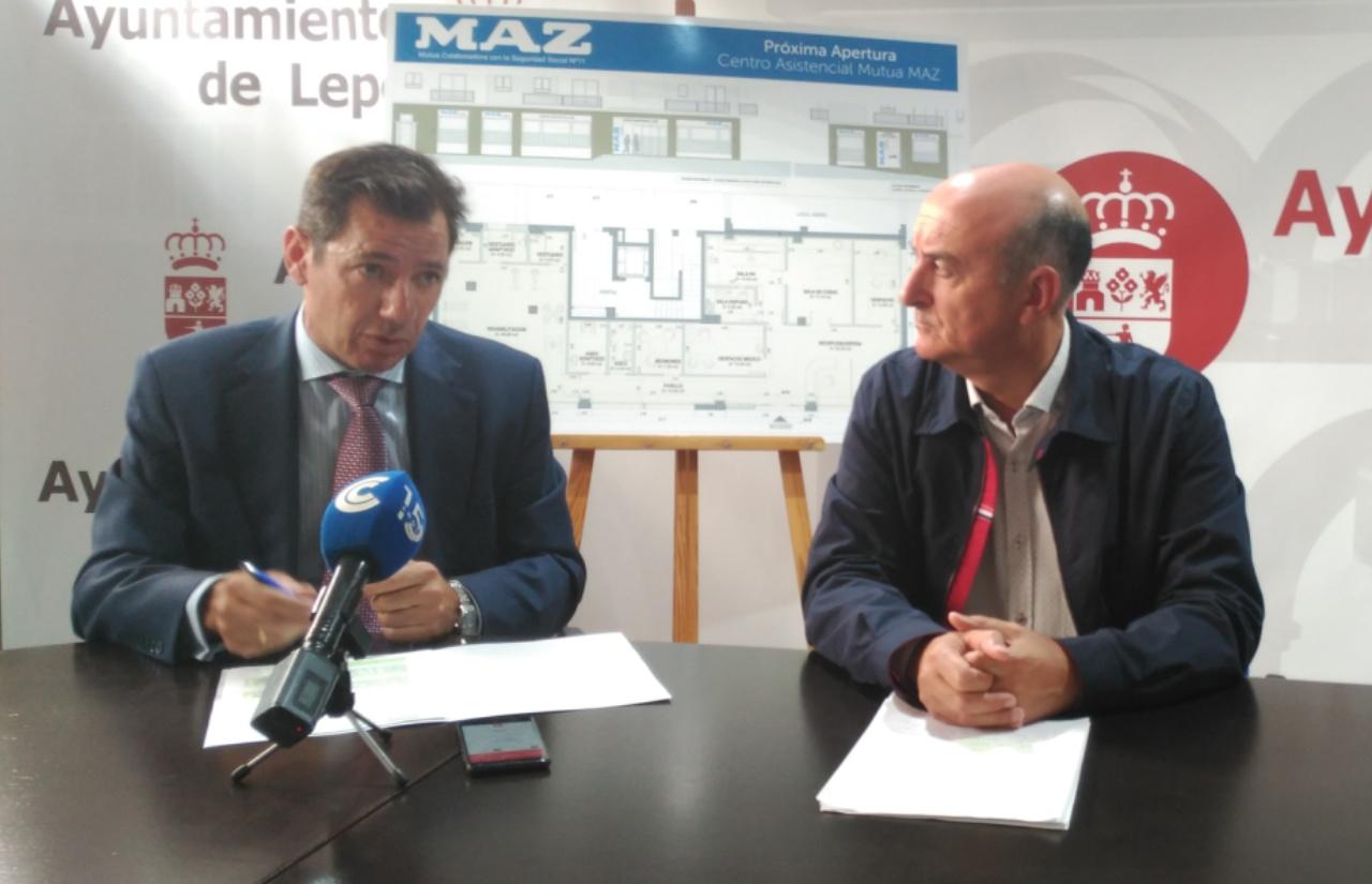 Ayuntamiento y Mutua MAZ presentan su nuevo centro asistencial en Lepe