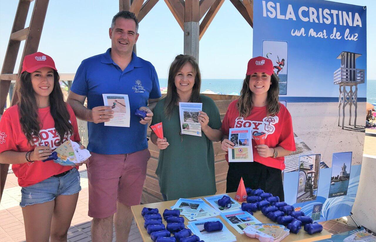Continúa la campaña de limpieza «Isla Cristina Respira»