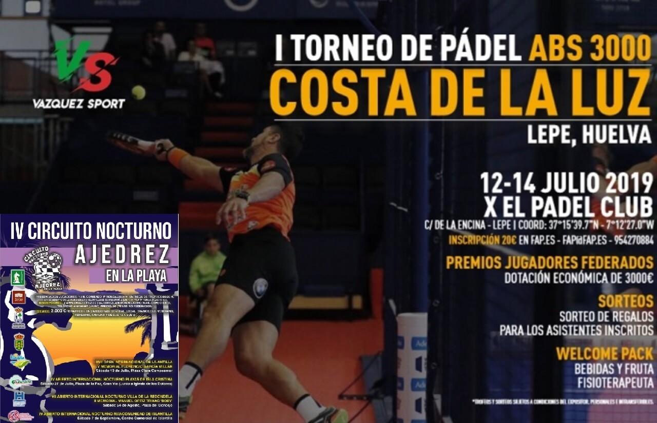 Torneo de Pádel Costa de la Luz ABS3000 SWAP ENERGÍA y XVII Open Internacional de La Antilla V Memorial Florencio García Millán