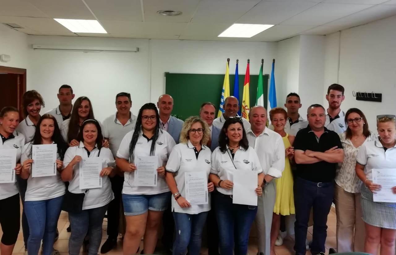 Clausurado el taller de empleo «Quercus» desarrollado por la Mancomunidad de Islantilla en el CEFO