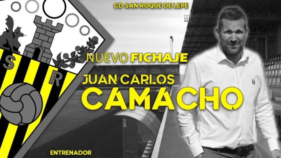 Juan Carlos Camacho nuevo entrenador del San Roque con toda la ilusión de hacer crecer al equipo lepero
