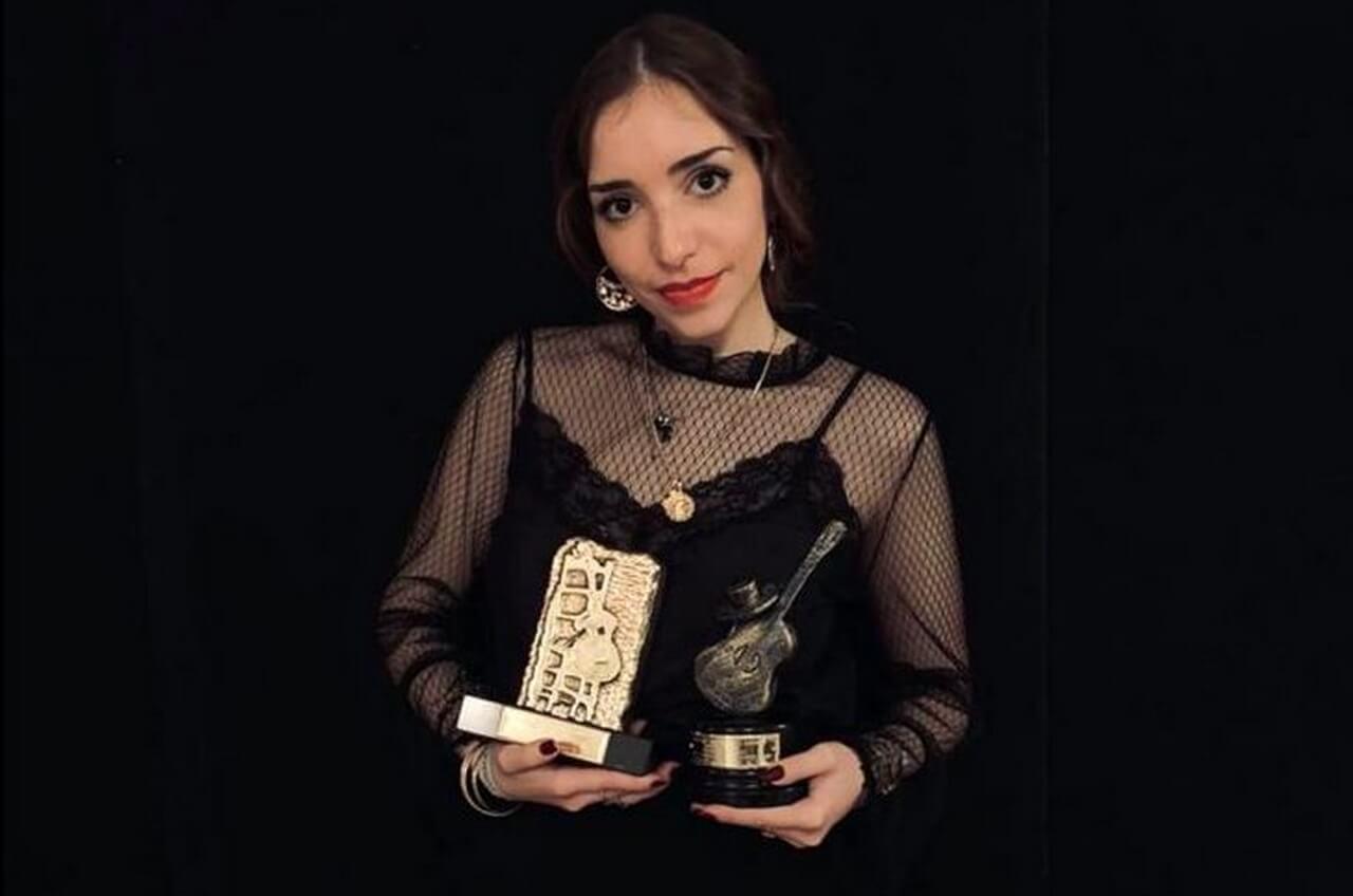 Mª del Carmen González, en las semifinales del Festival del Cante de las Minas