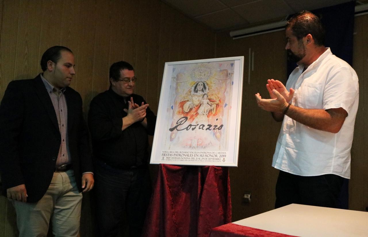 Una obra de Daniel Jiménez Díaz anuncia los cultos en honor a la Patrona, la Virgen del Rosario