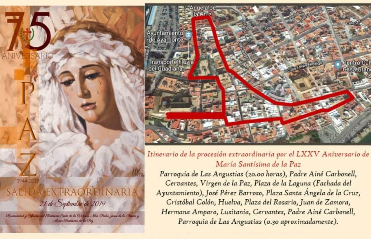 Salida Extraordinaria de María Santísima de la Paz en Ayamonte