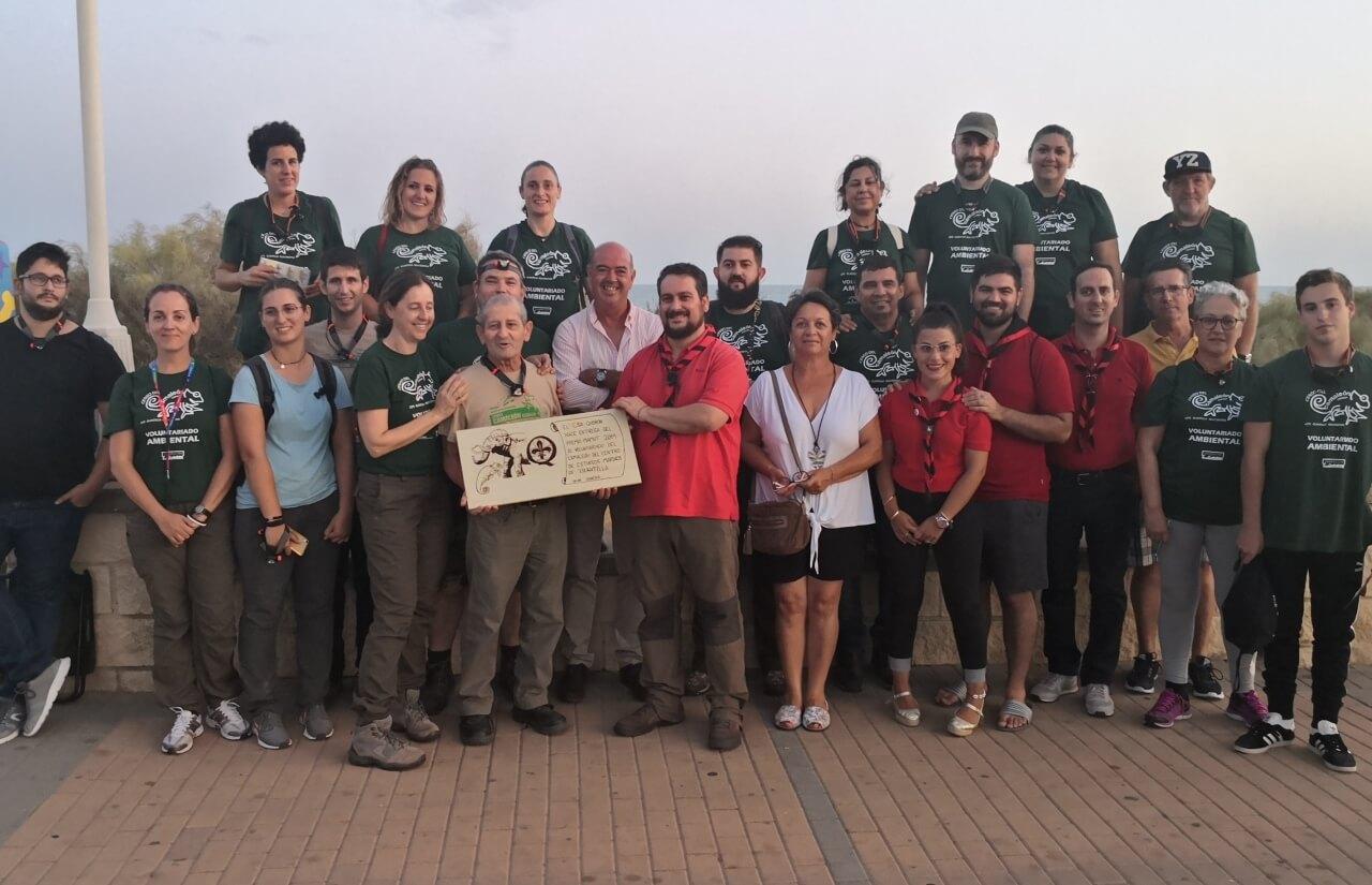 Entrega del premio «Pequeño Mamut Dormilón» del movimiento Scout a los voluntarios ambientales del censo del camaleón de Islantilla