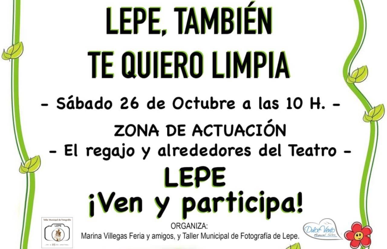 Una iniciativa de una alumna del Taller Municipal de Fotografía de Lepe nos invita a limpiar el municipio