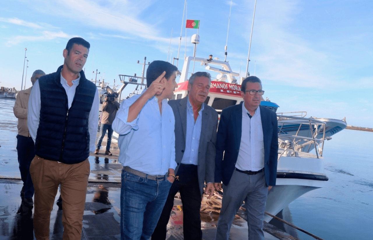 González destaca la inversión por parte de la Junta en el puerto de Ayamonte