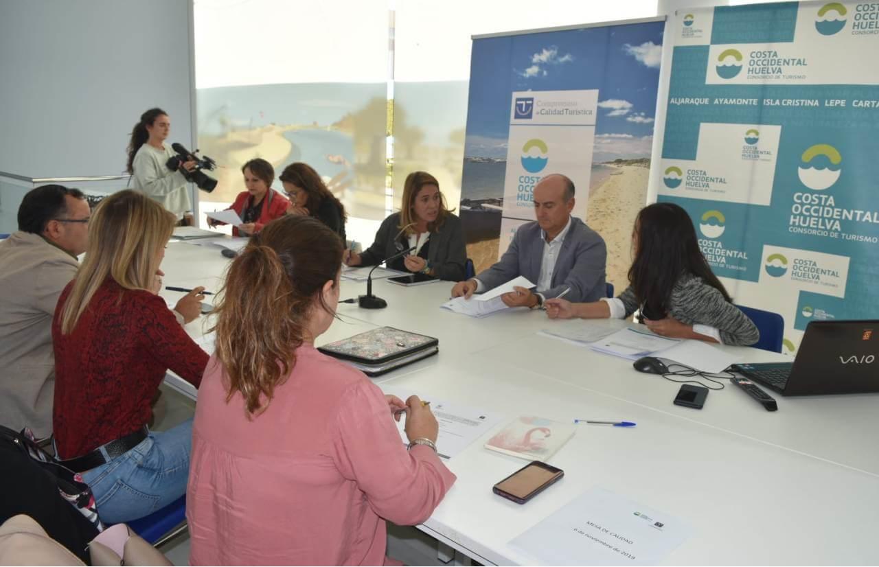 La Costa Occidental de Huelva celebra la mesa de Calidad del Destino Turístico SICTED
