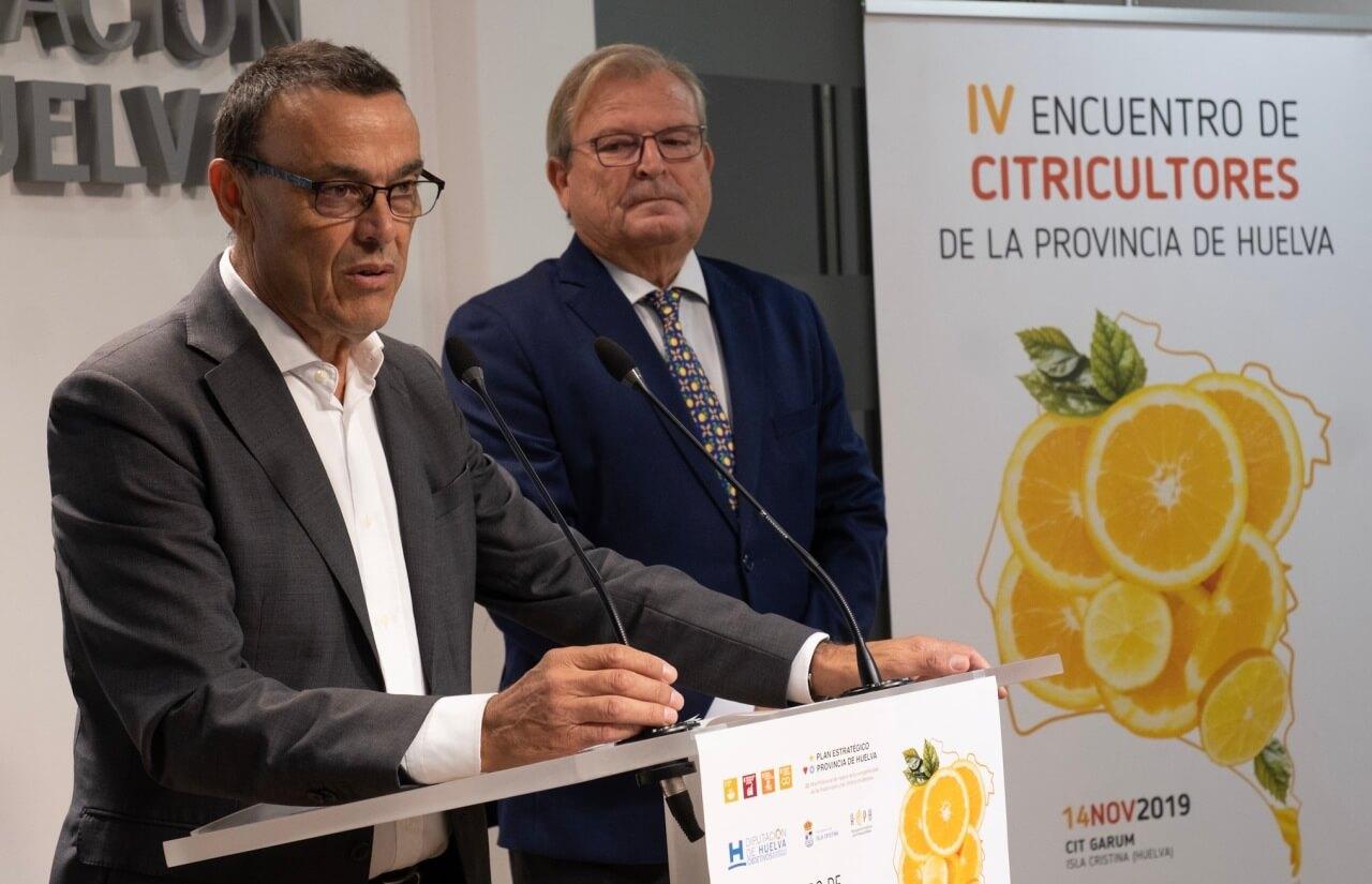 Diputación impulsa el sector citrícola con la organización del IV Encuentro de Citricultores de la provincia de Huelva