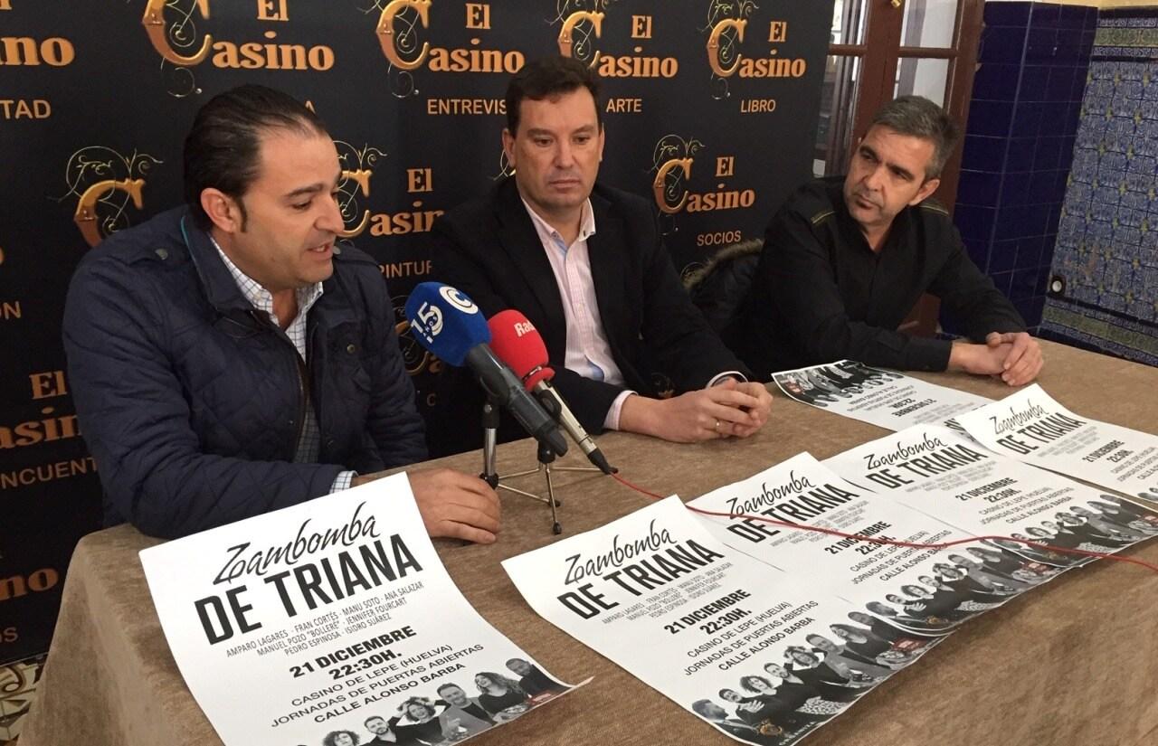Ayuntamiento y Casino presentan la Zambomba Flamenca de Triana que se celebrará el sábado 21 de diciembre