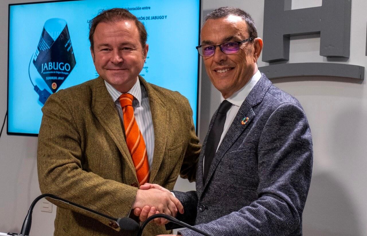 Diputación y la DOP Jabugo sellan una nueva alianza para promocionar el jamón como producto gastronómico único