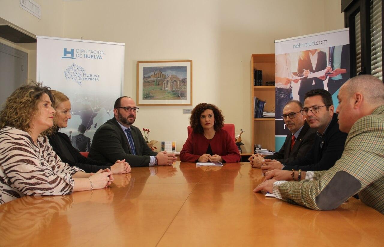 La sede de Netin Club en Huelva se instala en el vivero provincial tras la firma de un convenio con la Diputación