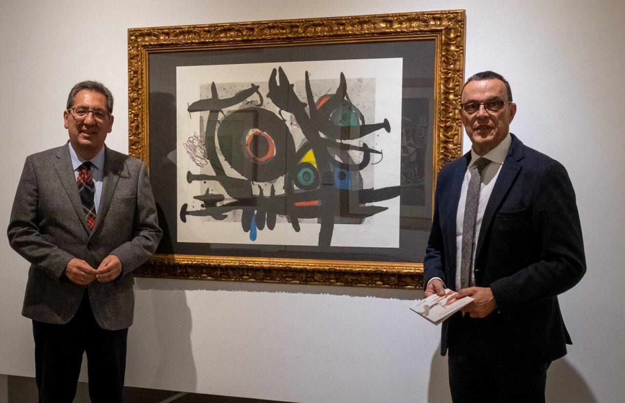 La exposición 'Obra gráfica en la Colección Fundación Cajasol' llega a la Sala de la Provincia de la Diputación