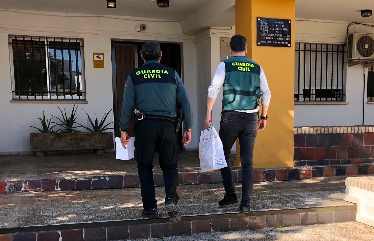 La Guardia Civil ha detenido a cuatro personas por un robo cometido en una vivienda de la localidad de Lepe