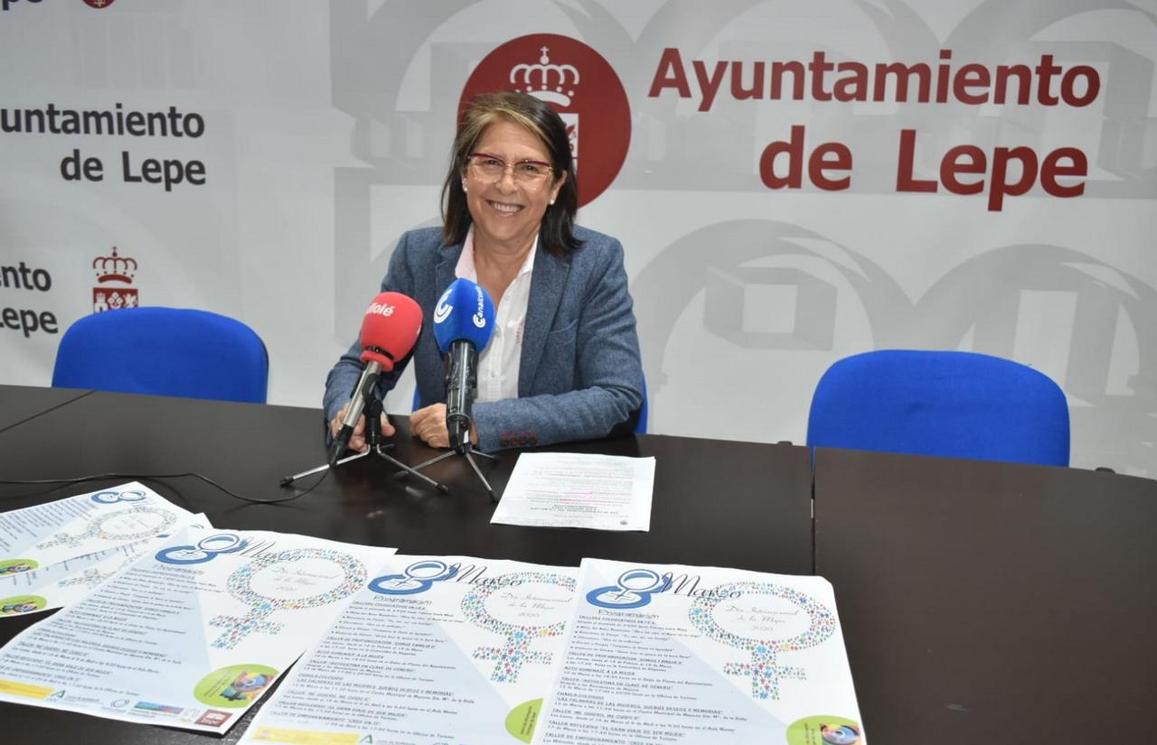 Lepe presenta los actos conmemorativos del Día Internacional de la Mujer del «8M» de 2020