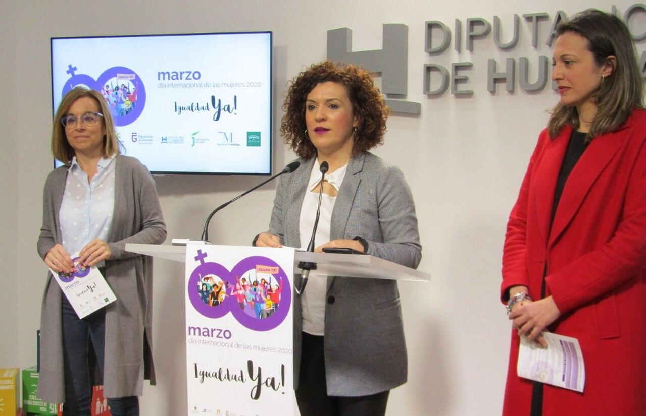 """Diputación, Ayuntamiento y Universidad de Huelva celebrarán un 8M reivindicando """"¡Igualdad ya!"""""""