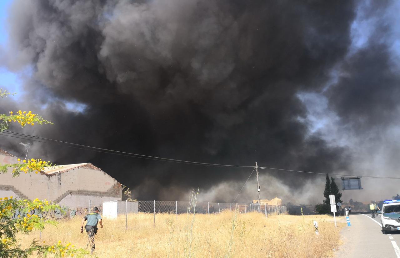 Extinguido el incendio producido en un paraje de la zona oeste de Lepe