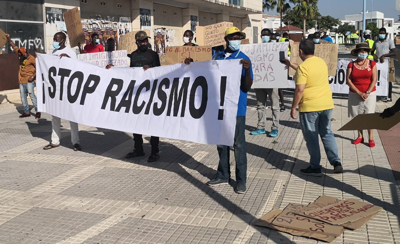 Nueva manifestación de migrantes en Lepe