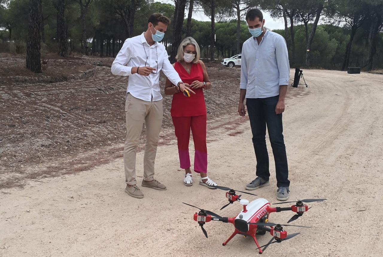 Drones vigilan posibles fuegoss forestales