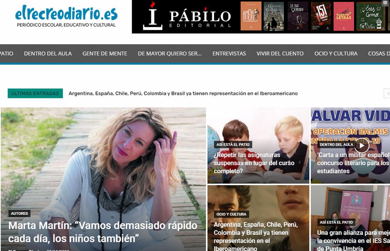Nace El Recreo Diario, una web especializada en información escolar, educativa y cultural