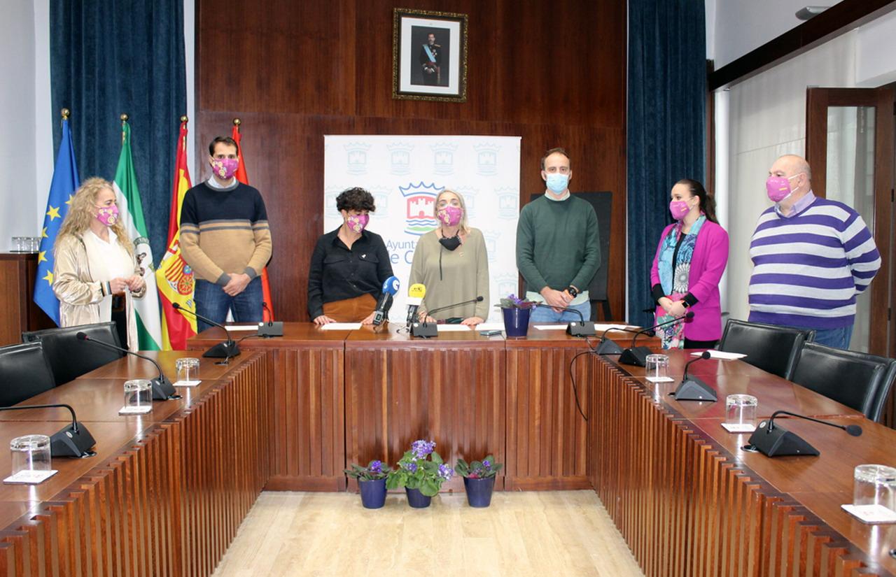 El Ayuntamiento de Cartaya traslada el apoyo institucional a las víctimas en el Día Internacional contra la Violencia de Género