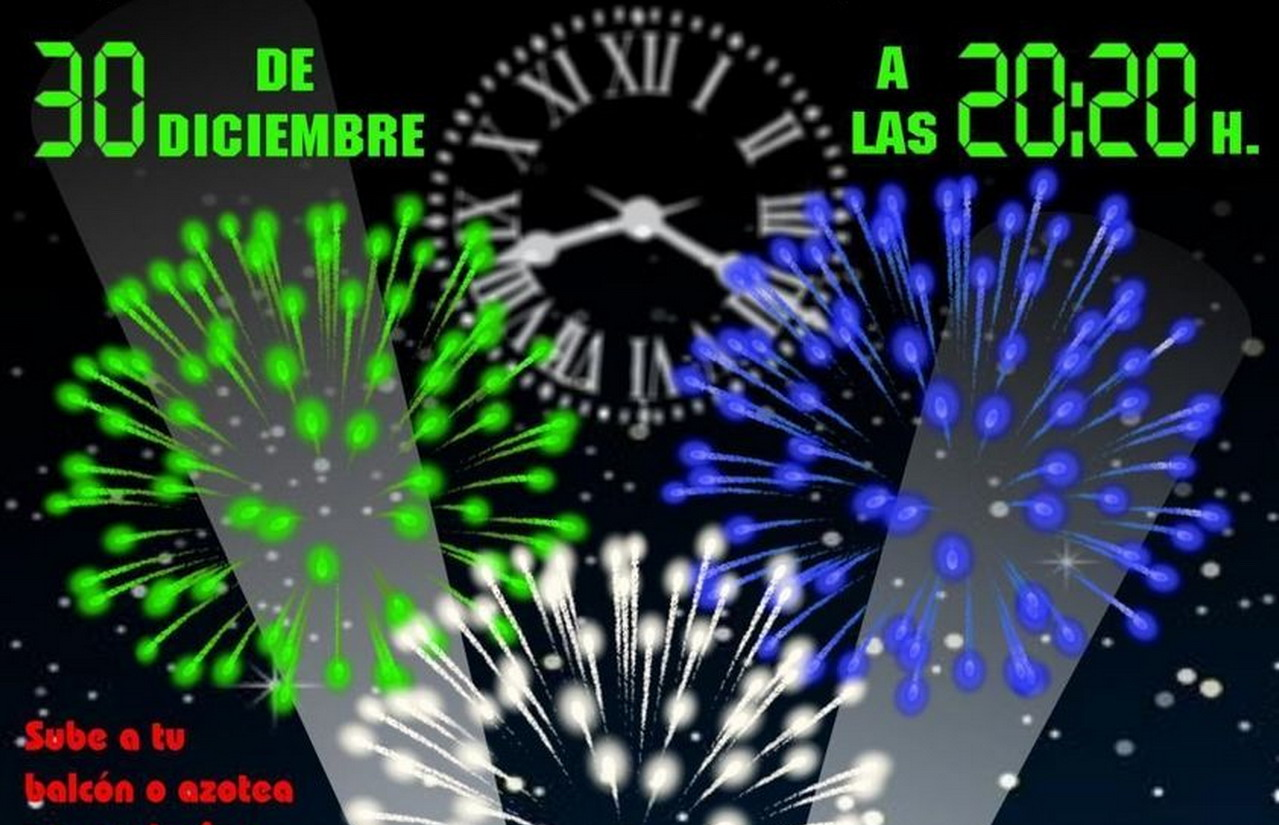Lepe celebrará el adelanto de las campanadas iluminando el cielo de colores en homenaje a las víctimas de la pandemia, los sanitarios y los cuerpos de seguridad