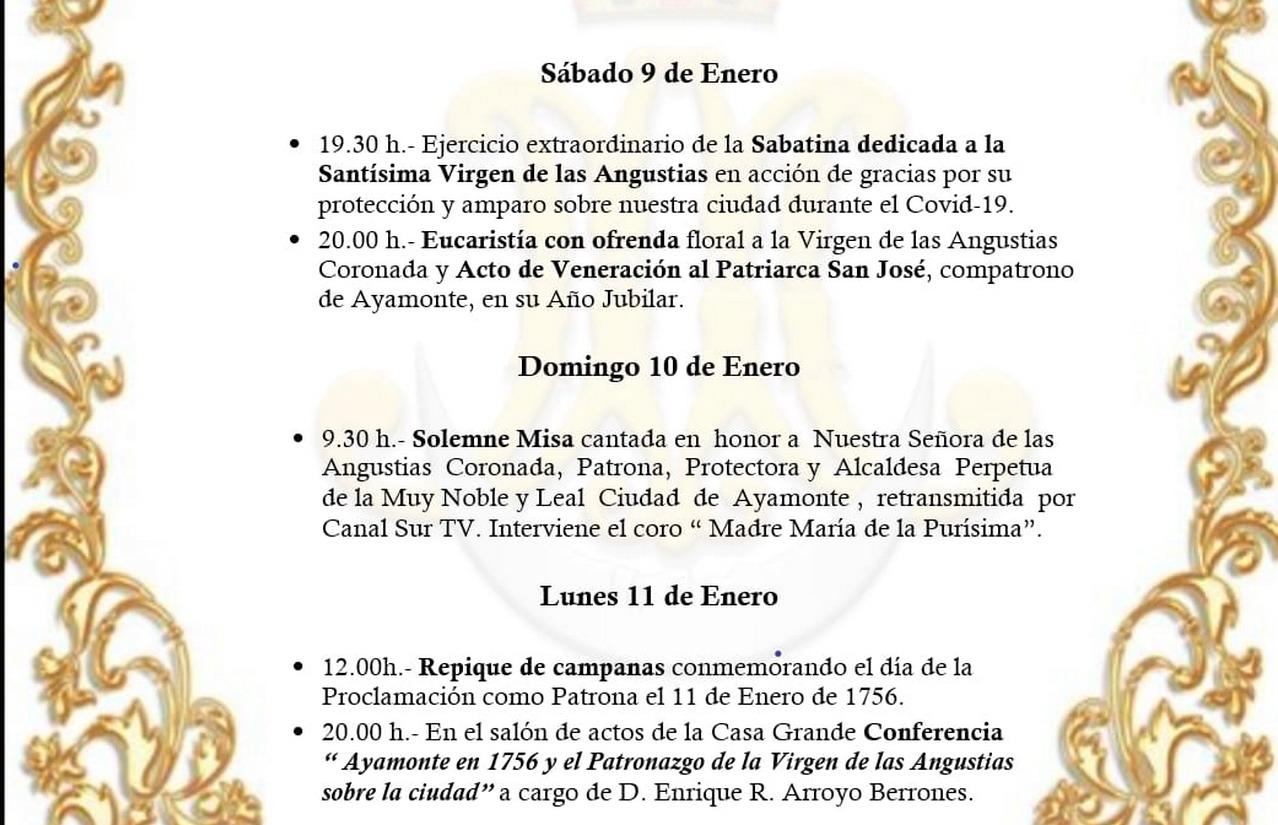 CCLXV Aniversario del Patronazgo de la Virgen de las Angustias sobre la ciudad de Ayamonte