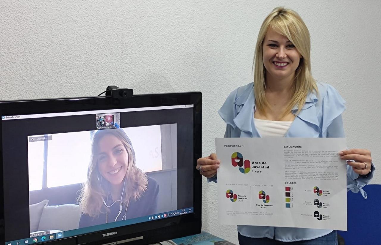 El divertido logotipo presentado por la vallisoletana Alicia Alonso se alza con el premio del concurso convocado por el Área de Juventud de Lepe