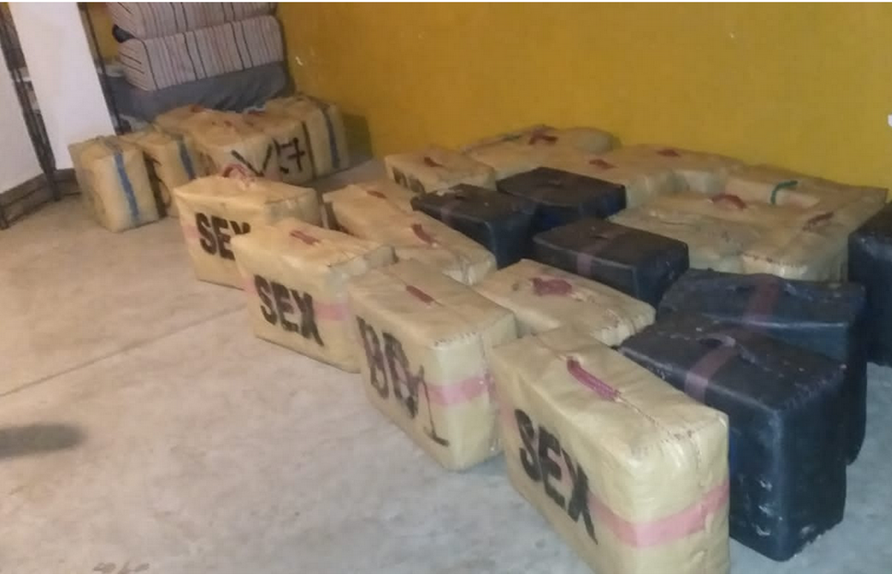 La Guardia Civil interviene una gran cantidad de hachís en Aljaraque