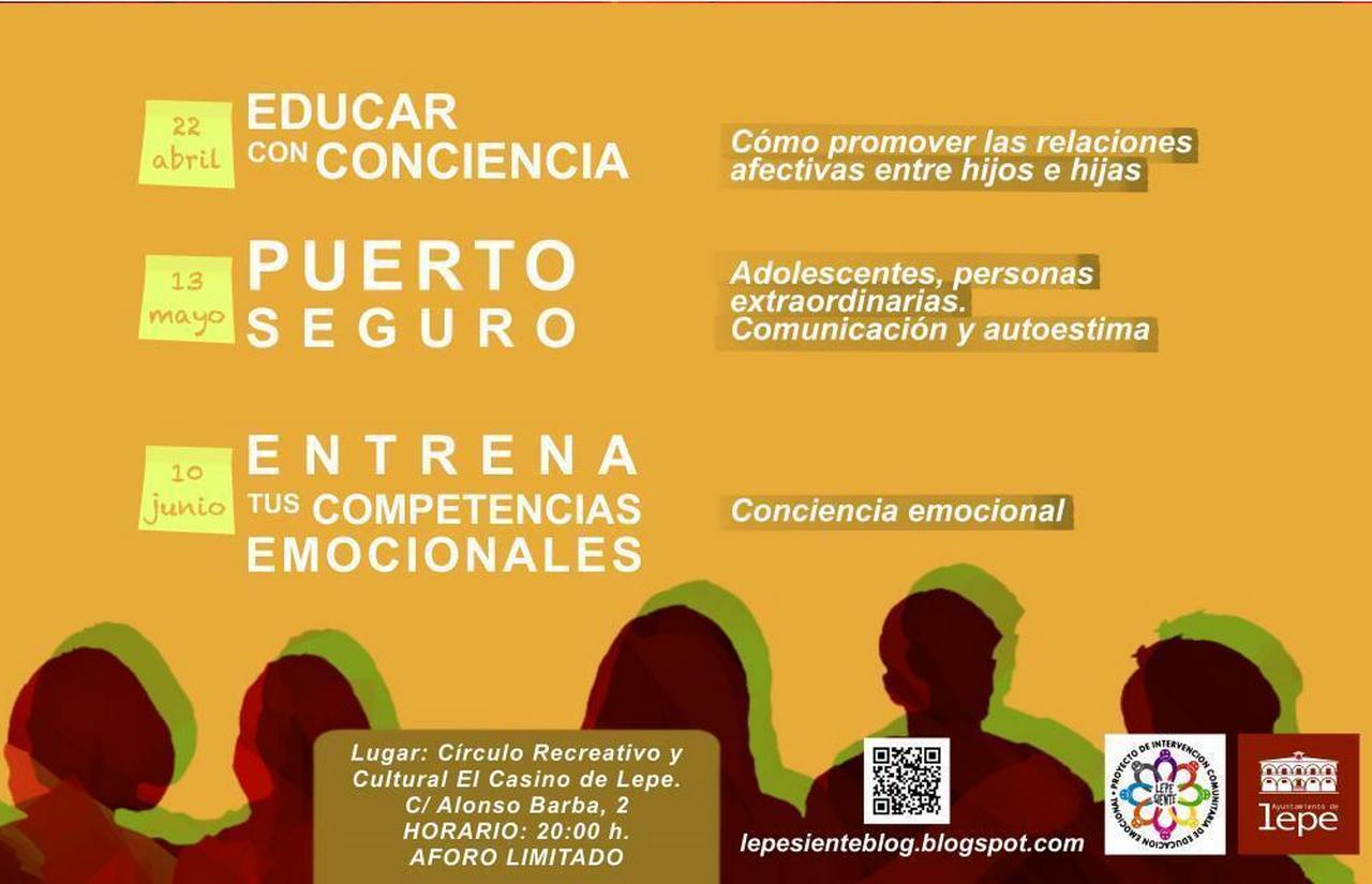 Lepe Siente organiza un ciclo formativo sobre parentalidad positiva y educación emocional