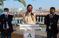 La delegada del Gobierno, Bella Verano Domínguez ha visitado las obras de rehabilitación del puente sobre el río Carreras en Isla Cristina